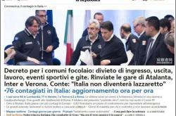 """两天激增76例,意大利11地开始""""封城"""",军方或介入"""